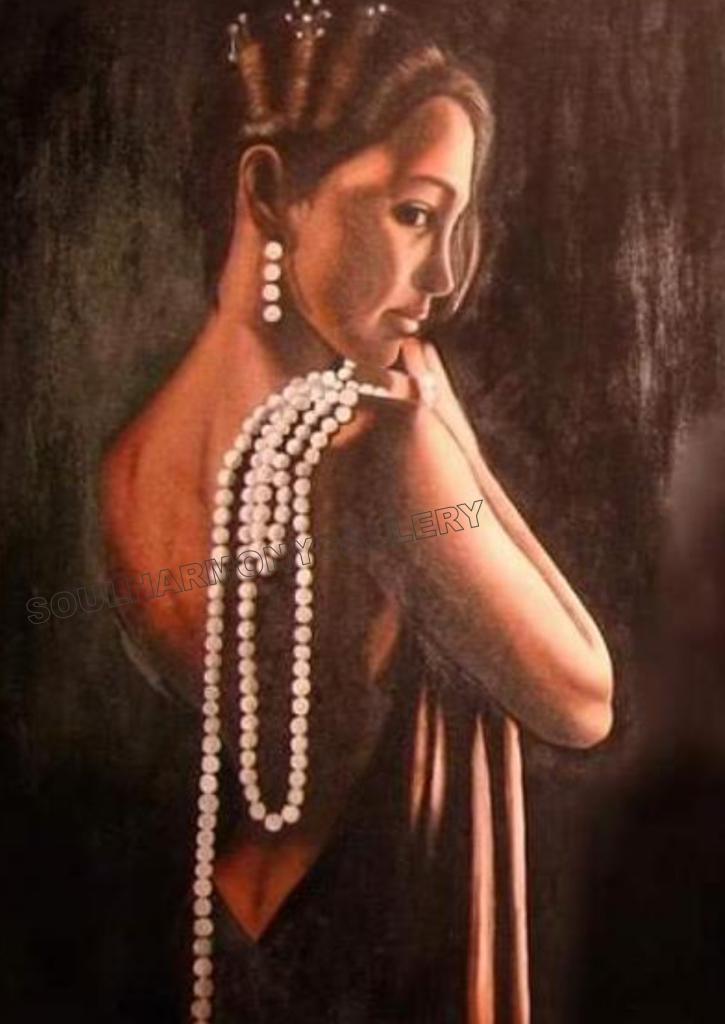 Donna con perle, by Muriel Villa